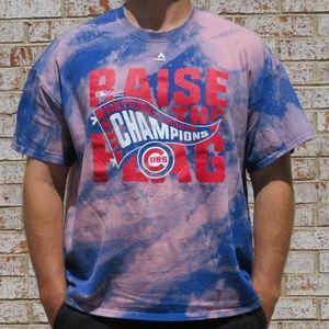Chicago Cubs Champions Custom Bleach Tee sz XXL